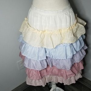 Marc Jacobs Ruffle Tiered Pastel Skirt Size 4